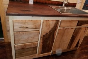 Daisy from Hummingbird Tiny Housing - black walnut counter top with 33 in stainless steal sink_ (Custom)