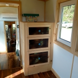 The Luxury 40 from Hummingbird Tiny Housing - Master bedroom view