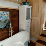 The Luxury 40 from Hummingbird Tiny Housing - Master bath view