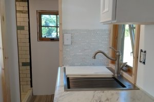 Sweet Pea Tiny house 25 in stainless steel kitchen sink (Custom)